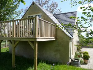 The Secluded Deck acceesed from the living area.